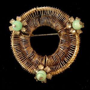 "Vintage Weiss pin, 1 1/2"" diameter"